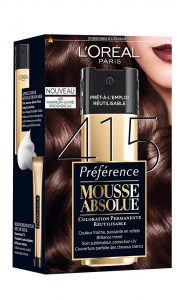 Boite de coloration mousse absolue L'Oréal Paris Marron givré prodigieux