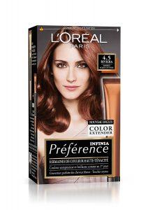 Coloration cheveux gamme couleur