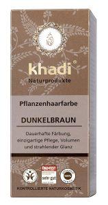 Khadi coloration de cheveux aux plantes brun foncé