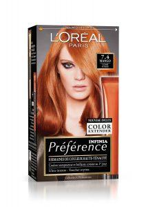L'Oréal coloration rousse intense