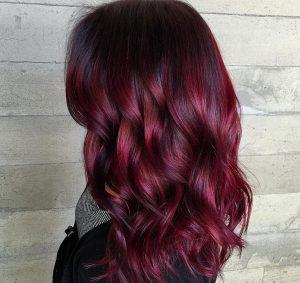 Couleur rouge cheveux
