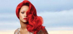 Rihanna cheveux rouge