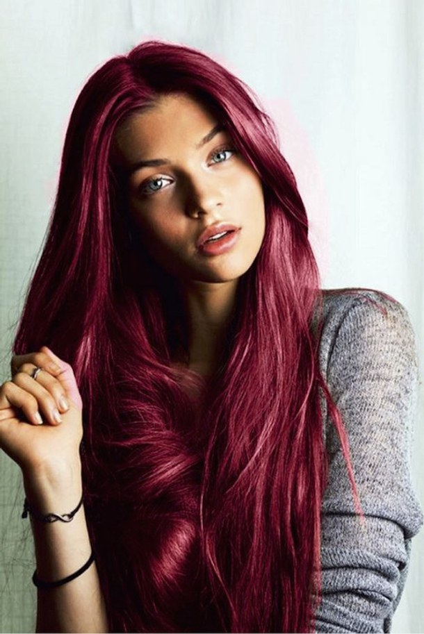 Crazy color rouge sur cheveux brun