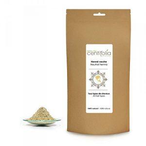 Acheter la poudre de henné de la marque centifolia avec un packaging marron très simple et neutre