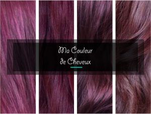 Dégradé de violet couleur de cheveux