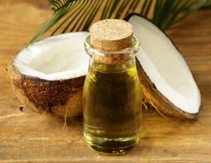 Óleo de coco e leite para cabelos
