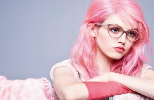 Cheveux rose bonbon
