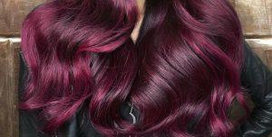 Couleur cheveux rouge framboise