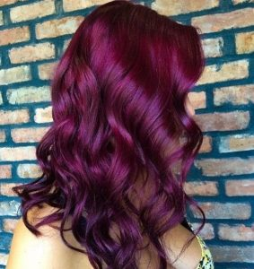 Coloration cheveux violet rouge
