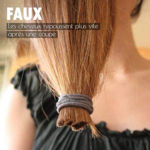 FAUX les cheveux repoussent plus vite après une coupe