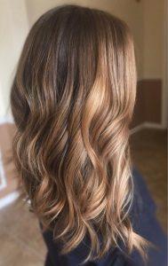 Balayage miel cheveux longs
