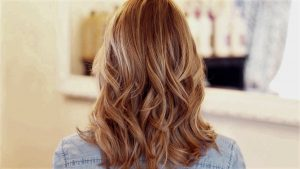 Blayage miel cheveux