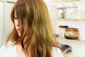 Cheveux vire au vert