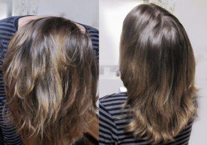 Cheveux après shampoing
