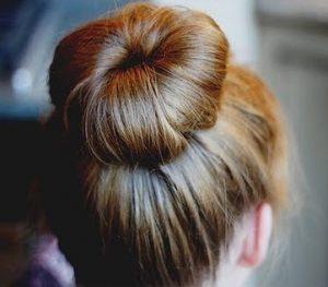 Chignon cheveux sales