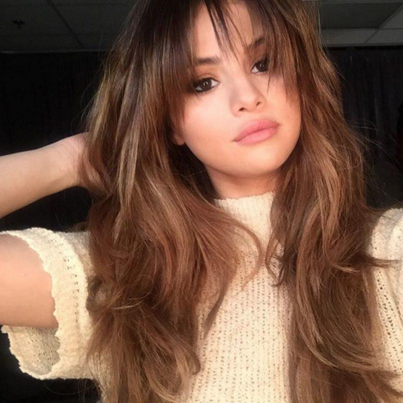 Balayage caramel Selena Gomez