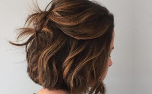 Balayage caramel cheveux courts