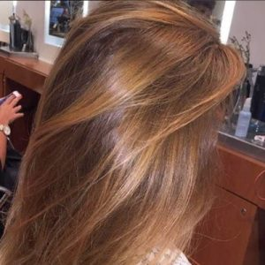 Coloration cheveux meche balayage