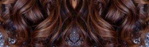 Mèches caramel cheveux