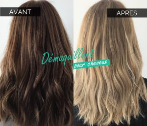 Démaquillage cheveux
