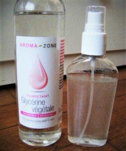 Glycérine végétale spray cheveux