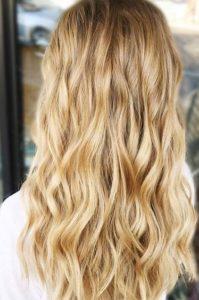 Blond doré balayage
