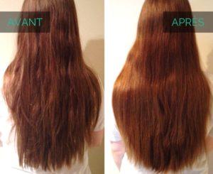 Vinaigre blanc cheveux avant après