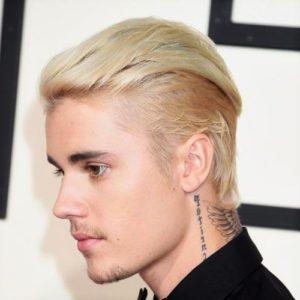 Blond platine Justin Bieber
