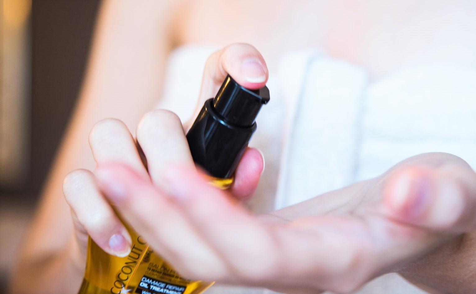 spray huile de coco cheveux