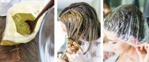 Cheveux noir henné