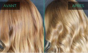 Patine cheveux avant après
