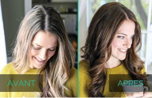Henné cheveux blanc avant après