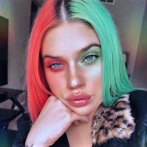 cheveux de deux couleurs