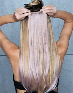 Décoloration extension cheveux