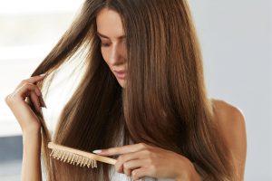 brosse cheveux massage bois avec picots