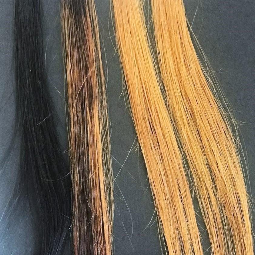 color out sur des cheveux noir