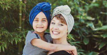 turban chimio avec franges