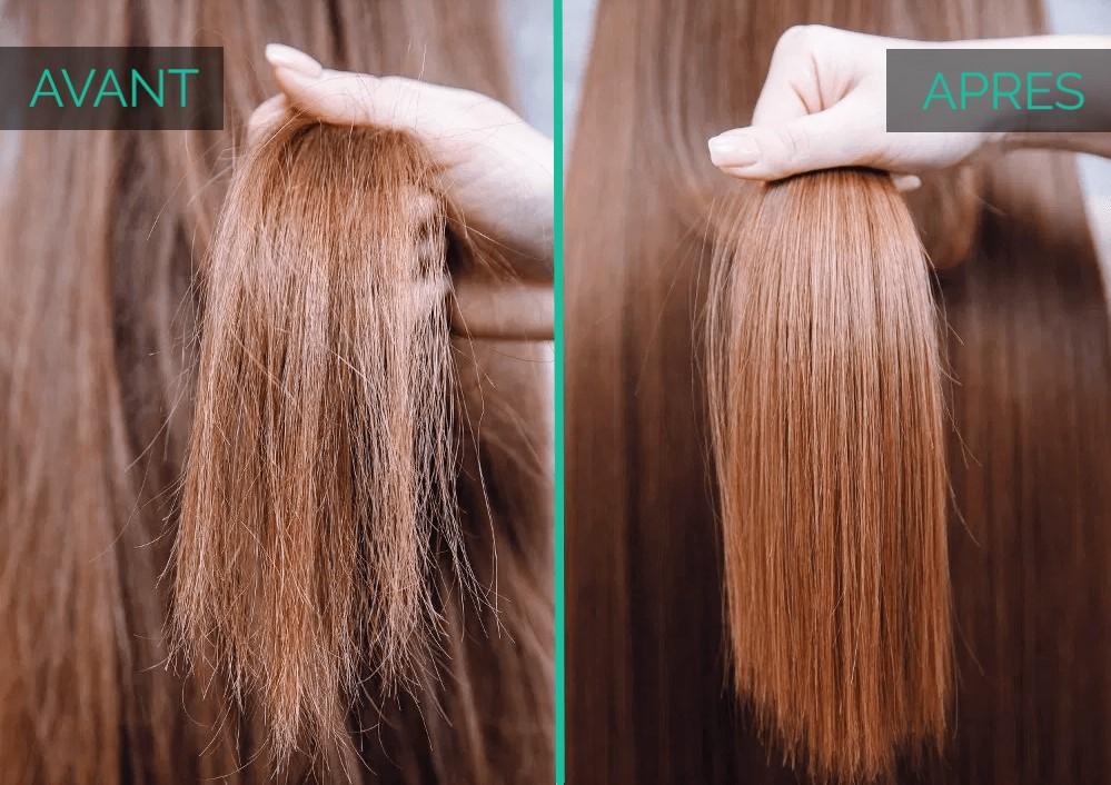 cheveux ternes avant après